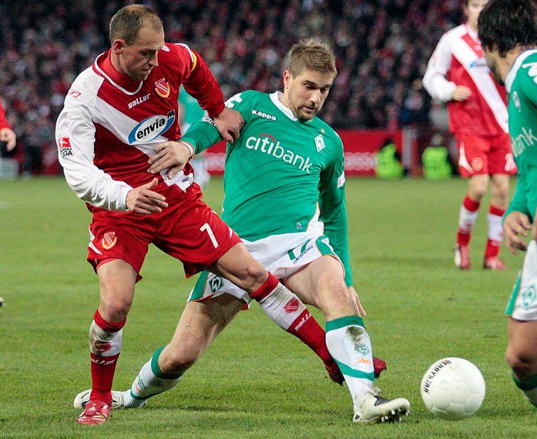 Ivan Klasnic tien jaar geleden in actie bij Werder Bremen.