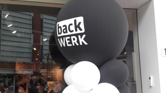 Ballonnen bij de feestelijke opening van backWerk in Arnhem.