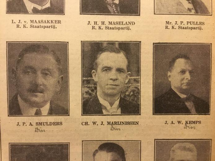 De katholieke dissidenten Smulders, Marijnissen en Kemps (1939)