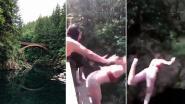 VIDEO. Tiener die vriendin van 15 meter hoge brug duwde pleit schuldig