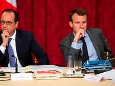 Ook Hollande schaart zich achter Macron