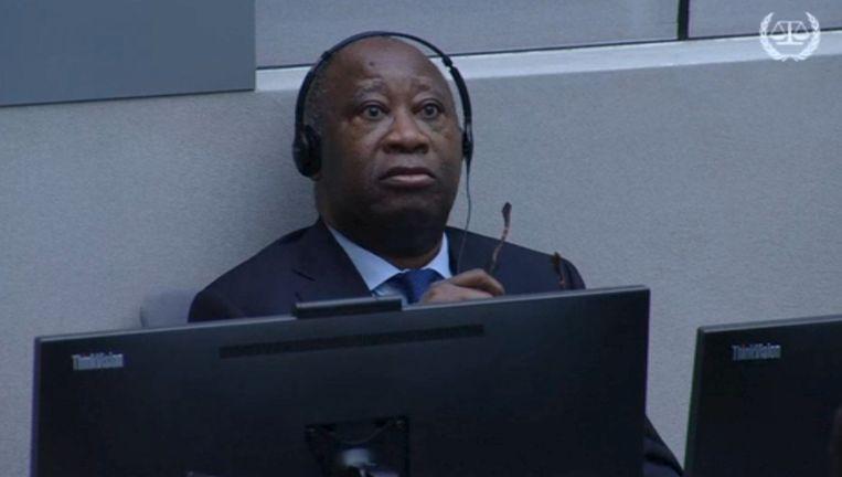 Ex-president Laurent Gbagbo is de hoogste politicus die ooit voor het Internationaal Strafhof in Den Haag heeft gestaan. Hij wordt beschuldigd van misdaden tegen de menselijkheid. Beeld reuters
