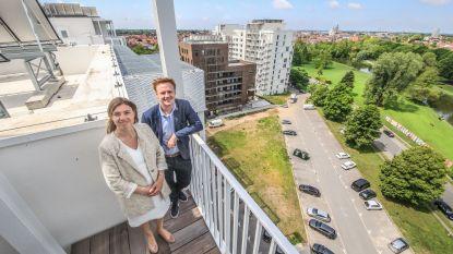 Renovatie sociale flatgebouwen Drie Hofsteden af, hondenweide komt terug