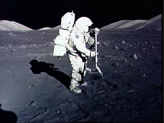Astronaut en geoloog Harrison Schmitt verzamelde maanmonsters tijdens de Apollo 17-missie.