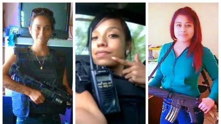 Drie bekende 'Flacas': Joselyn Niño, La Malandra en La Peque. De eerste werd vermoord, de tweede is nog op vrije voeten en de derde zit in de cel.