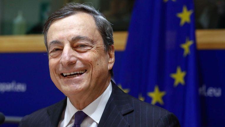 Mario Draghi, directeur van de Europese Centrale Bank Beeld reuters
