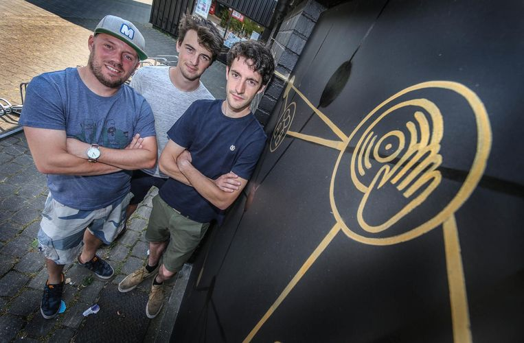 De drie dj-vrienden Mathias Vandenberghe, Ward Hoorens en Lander Durnez.
