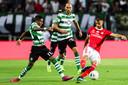 Bas Dost (m) verloor eerder deze maand in de Portugese Supercup ruim van Benfica (5-0).