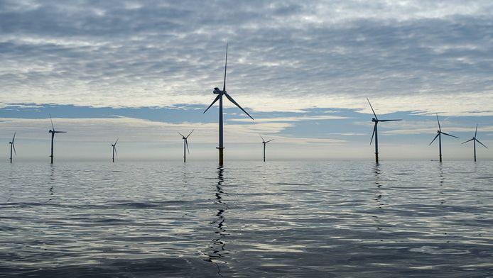Windmolens op de Noordzee.