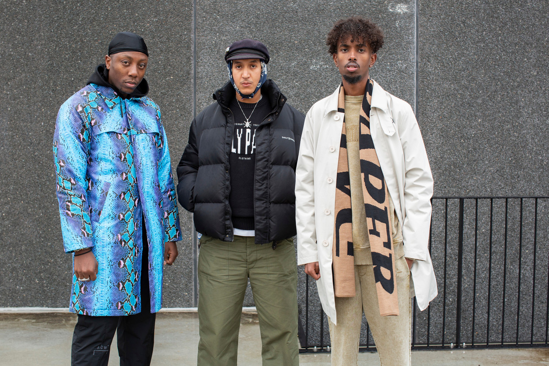 Van links naar rechts: Jefferson Osei, Abderrahmane Trabsini en Hussein Suleiman: 'Onze stijl veranderen we niet. Nee, we blijven wie we zijn.'