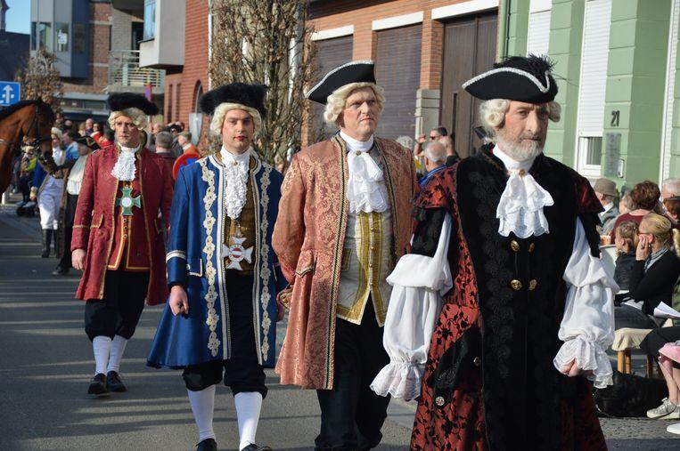 Feest n.a.v. het huwelijk van de baron van Boelare in 1770.