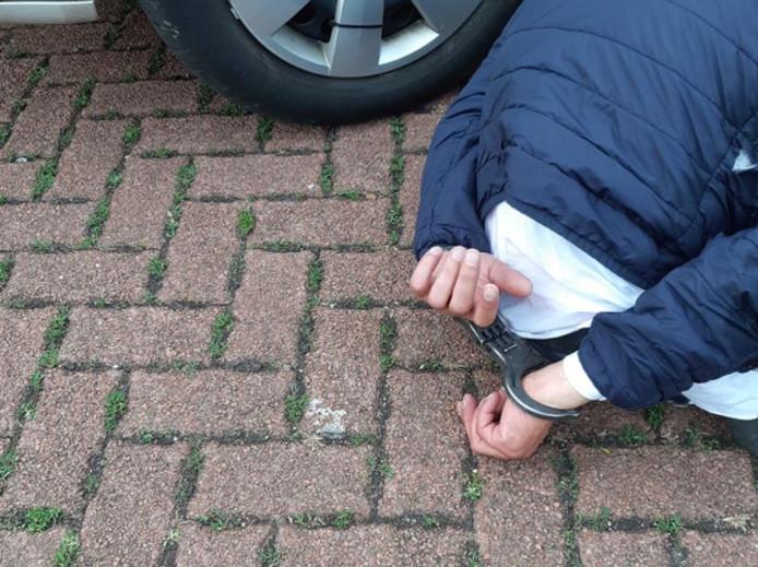 Een van de verdachten werd gepakt