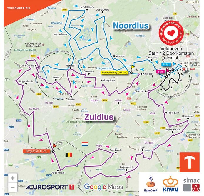 Nieuwe parcours van de Omloop der Kempen