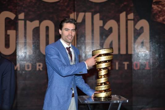 Tom Dumoulin, winnaar van de Giro in 2017.