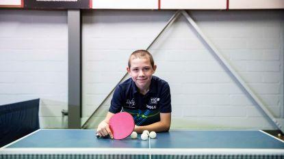 12-jarig tafeltennistalent uit Zutendaal leeft als een echte profspeler