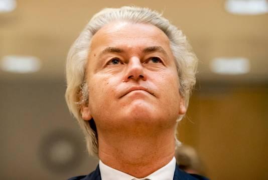 Geert Wilders tijdens een eerdere zitting in zijn strafzaak