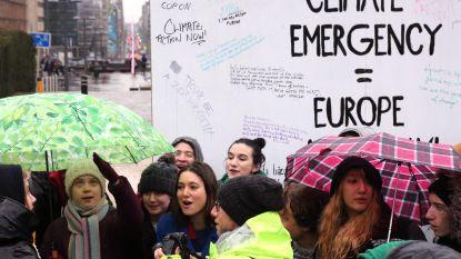 Greta Thunberg betoogt, en doet dat vandaag opnieuw