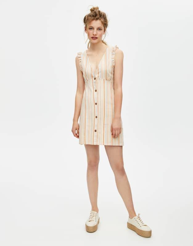 Robe mini à rayures - 9,99 euros au lieu de 19,99 euros.