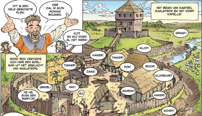 Danker Jan Oreel werkt aan een stripboek over de gemeente Kapelle.