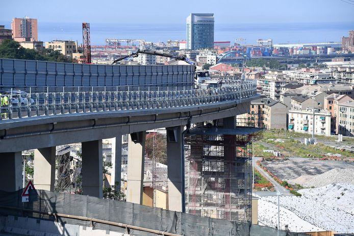 Werkzaamheden aan de nieuwe brug, afgelopen jaar.