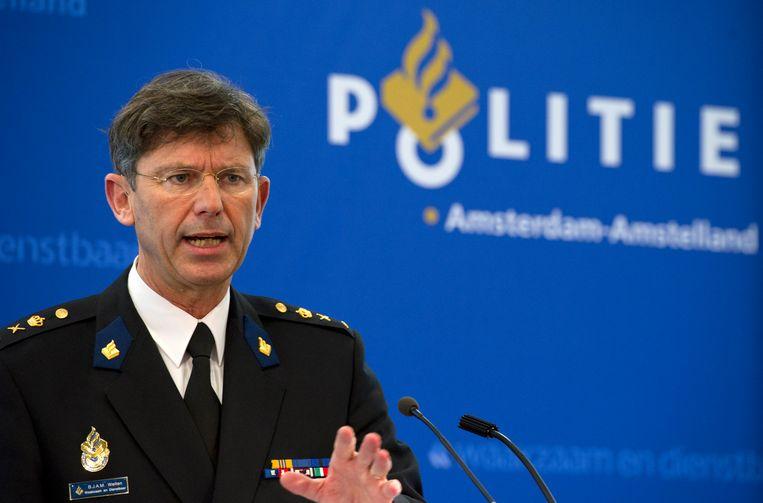 Oud-korpschef Bernard Welten van politie Amsterdam-Amstelland. Beeld null