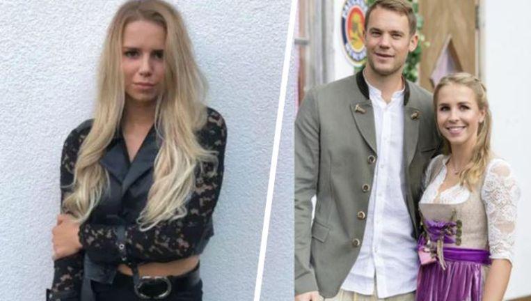 Links: de nieuwe liefde in het leven van Neuer, rechts: met zijn ex-vrouw Nina.