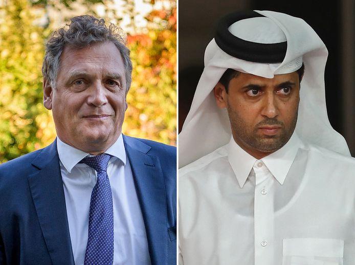 Jérôme Valcke en Nasser Al-Khelaifi.
