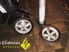 Dief op heterdaad betrapt bij stelen snorfiets zonder voorwiel in Eindhoven