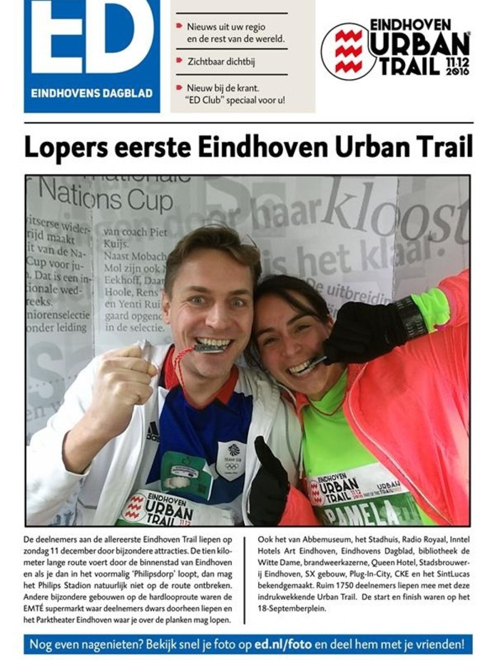 Bezoekers en deelnemers Urban Trail Eindhoven