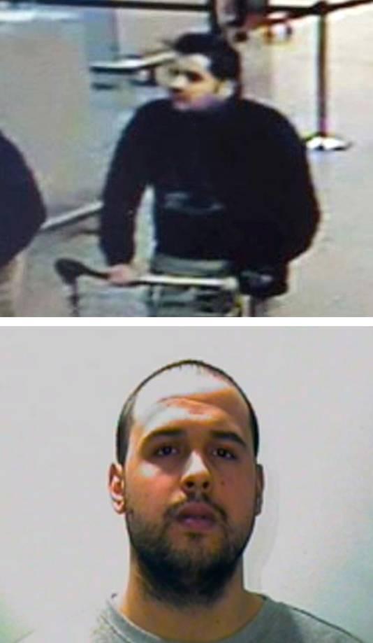 Aanslagpleger Ibrahim El Bakraoui en zijn broer Khalid.