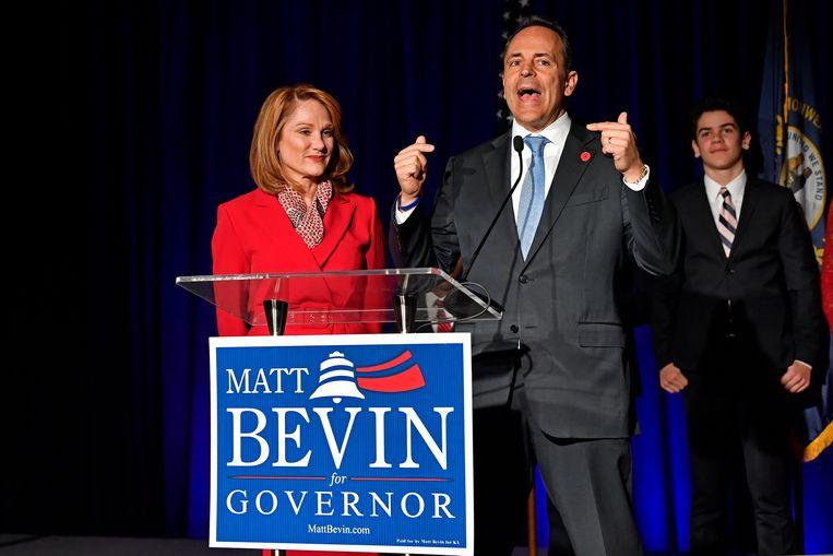 Matt Bevin met zijn vrouw Glenna.
