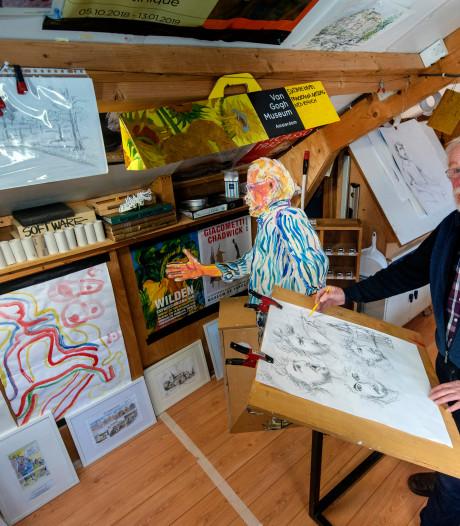 Wytse (74) uit Dieren is al 50 jaar cartoonist: 'Ik tekende vroeger al een boekenkast vol'