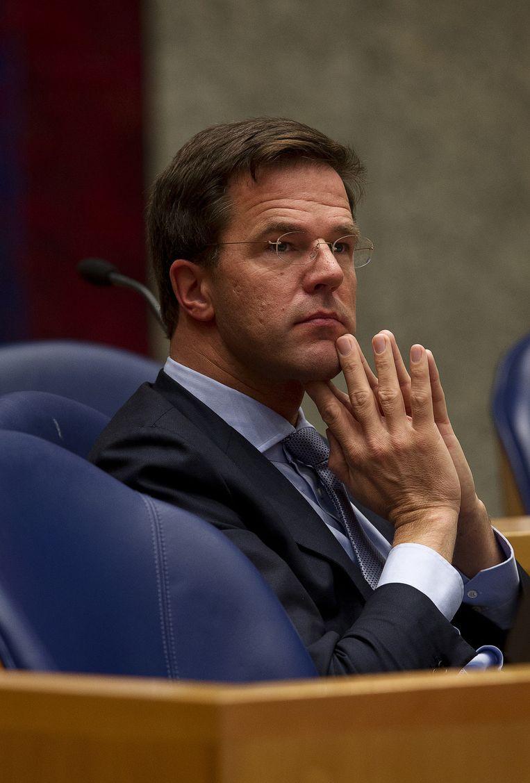Minister-president Mark Rutte Beeld null