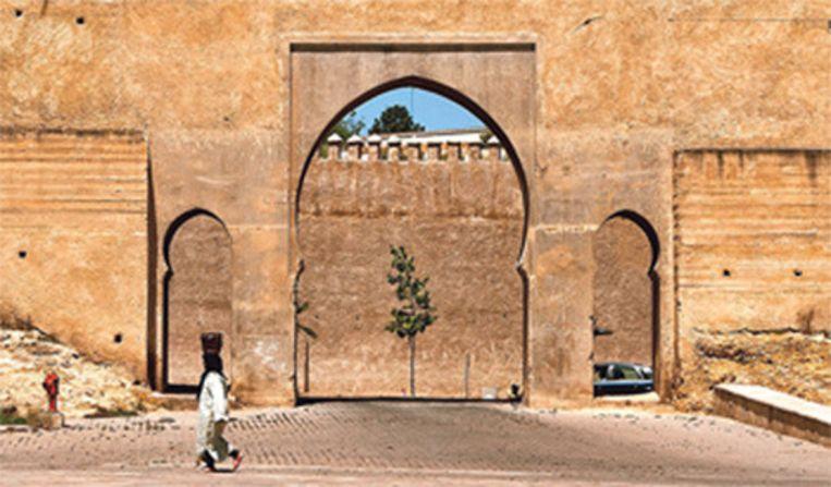 De stadspoort Bab Mansour van Meknes, in de 17de eeuw nog de hoofdstad van Marokko.
