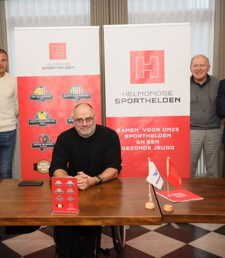 Helden uit Helmond gaan sporten met de jeugd: 'Eerst verlegen, daarna maken ze grapjes'
