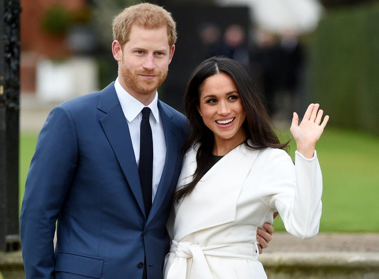 Prins Harry en Meghan Markle kondigen hun verloving aan op 27 november 2017 in   Kensington Palace in London.