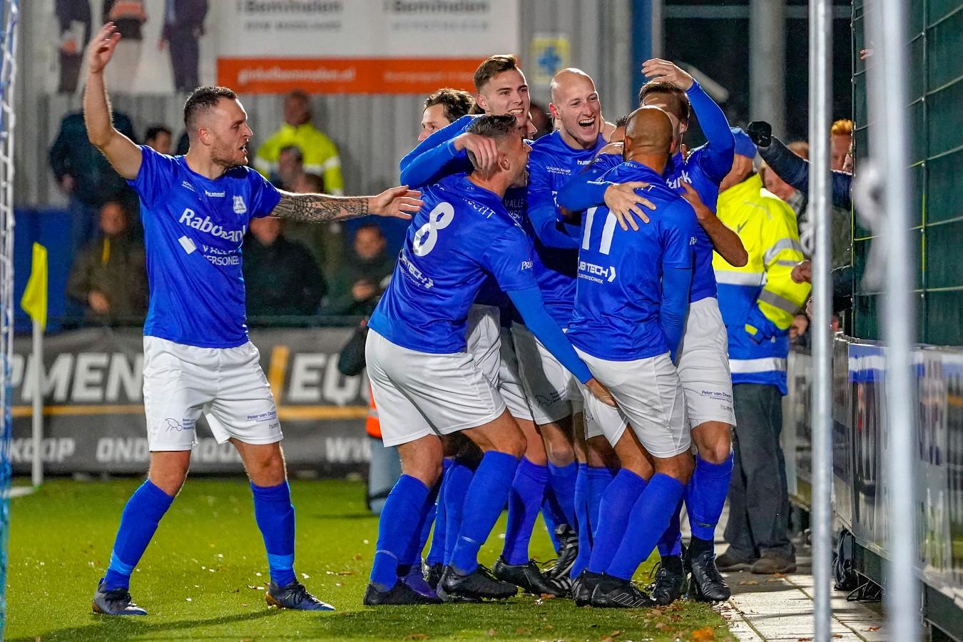 GVVV viert de 2-1 in de eerste bekerronde tegen Helmond Sport.