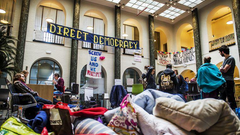 Actievoerende studenten in het bezette Maagdenhuis Beeld ANP