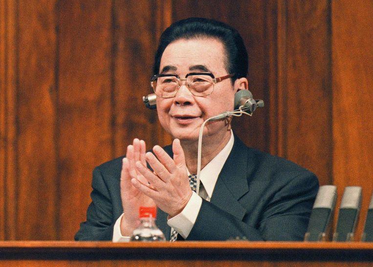 Oud-premier Li Peng werd ook wel 'de Slager van Beijing' genoemd. Beeld epa