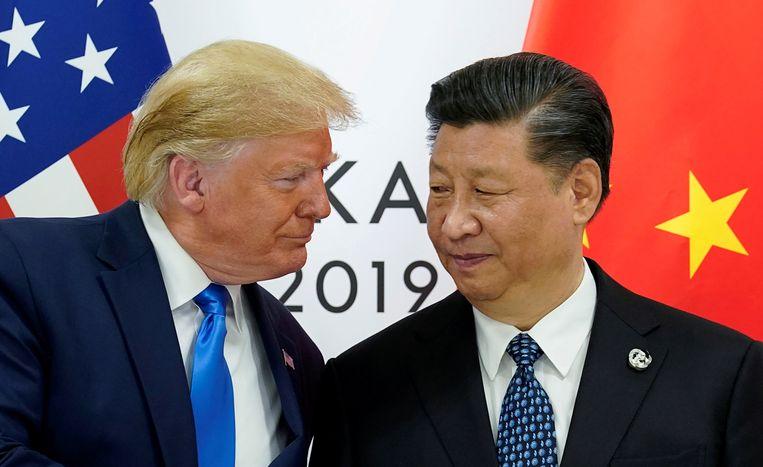 Donald Trump en de Chinese president Xi Jinping.