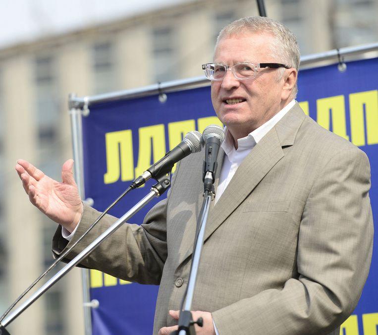Ook de Russische ultranationalist Vladimir Zjirinovski mag de EU niet meer in. Beeld getty