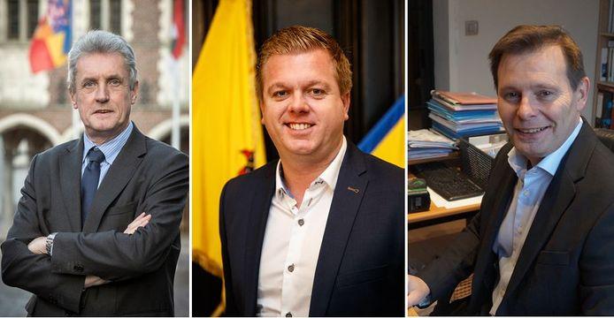 Luc Vannieuwenhuyze (Tielt), Bert Maertens (Wingene) en Lieven Huys (Wingene) zijn alle drie vragende partij voor een vaccinatiecentrum.