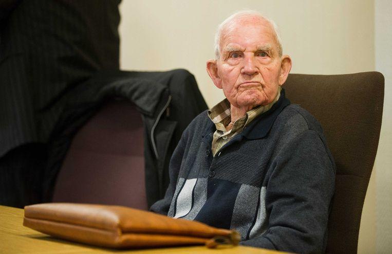Siert Bruins tijdens zijn proces in Hagen. Beeld null