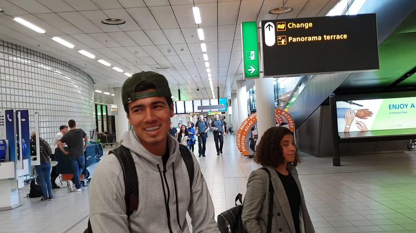 Érick Gutiérrez arriveerde gisteren op Schiphol.
