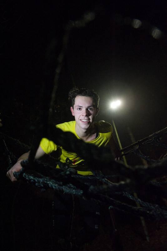 Jop Meekes op de survivalbaan
