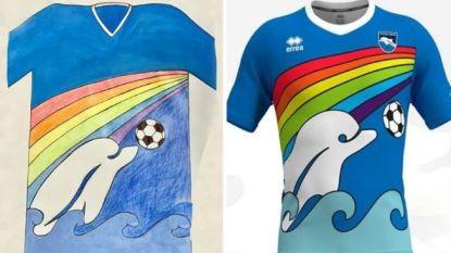 Hartverwarmend in deze barre tijden: jonge fan ontwerpt nieuw shirt van Italiaanse voetbalclub