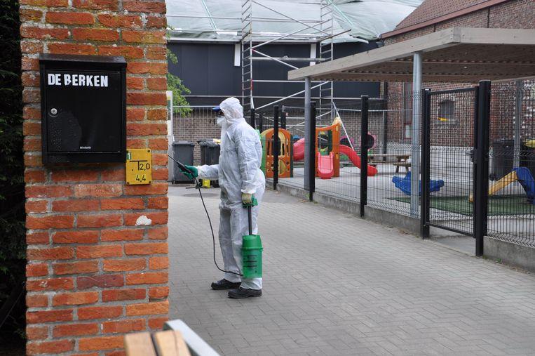 Het asbest werd de voorbije dagen vakkundig verwijderd.