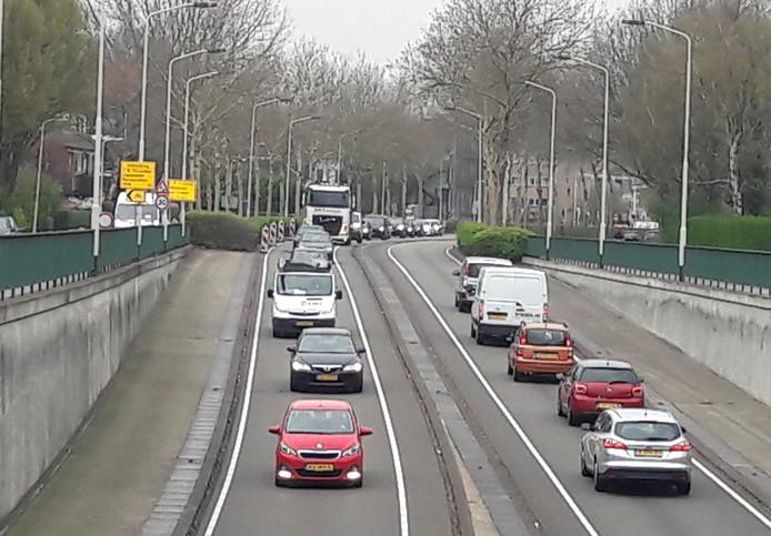 De zuidelijke rondweg in Breda.
