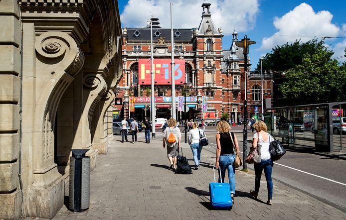 Toeristen in Amsterdam.