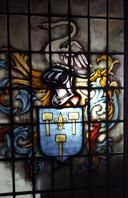 Het familiewapen van de familie Kolff, te zien in het Besiendershuis.